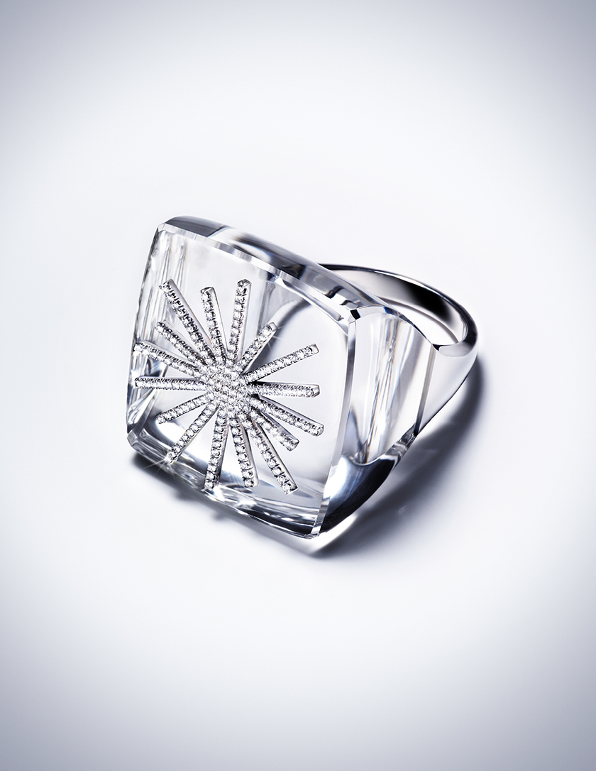 POWER – DIAMOND AND ROCK CRYSTAL RING